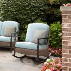 Bolingbrook Rocking Patio Chair with Spectrum Mist Cushion