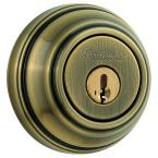 985 Double Cylinder Antique Brass Deadbolt Featuring SmartKey
