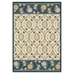 Manhatten Ivory/Blue 3 ft. 3 in. x 4 ft. 7 in. Area Rug