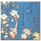 Hokusai: Weeping Cherry & Bullfinch - Double Blank Wall Plate