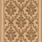 Kurdamir Damask Ivory 2 ft. 9 in. x Your Choice Length Roll Runner