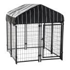 52 in. H x 4 ft. W x 4 ft. L Pet Resort Kennel with Cover