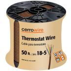 50 ft. 18/5 Brown Solid Thermostat Wire