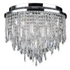 Tempest Collection 5-Light Chrome and Crystal Ceiling Light