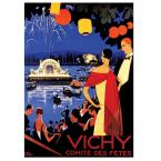 19 in. x 14 in. Vichy Comite Des Fetes Canvas Art