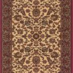 Kurdamir Kashan Ivory 26 in. x Your Choice Length Roll Runner