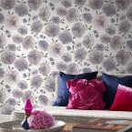 56 sq. ft. Poppies Lavender Wallpaper