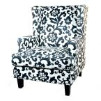 Vincent Dove 29 in. W Wing Back Chair