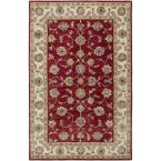Heritage Red/Ivory 7 ft. 9 in. x 9 ft. 9 in. Traditional Indoor Area Rug
