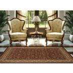 Super Kashan Red 5 ft. 2 in. x 7 ft. 6 in. Area Rug