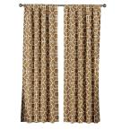 Rust Lenox Extra Wide 100% Cotton Rod Pocket Curtain Panel Pair - 104 in. W x 84 in. L (2-Pack)