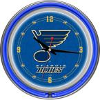 14 in. St. Louis Blues NHL Neon Wall Clock