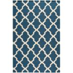 Cambridge Navy Blue/Ivory 9 ft. x 12 ft. Area Rug