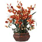 36.0 in. H Burgundy Large Cymbidium Silk Flower Arrangement