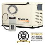 16,000-Watt Air Cooled Automatic Standby Generator with 100 Amp 16-Circuit Pre-Wired Transfer Switch