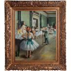 24 in. x 20 in. The Dance Class Hand-Painted Vintage Artwork