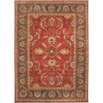John Rust Red 10 ft. x 14 ft. Area Rug