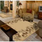 Whispering Pine Beige 5 ft. 3 in. x 7 ft. 5 in. Area Rug