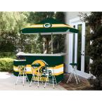 Green Bay Packers All-Weather Patio Bar Set with 6 ft. Umbrella