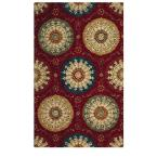 Paradise Red 6 ft. x 9 ft. Area Rug