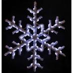 5 ft. Garland Snowflake with Pure White Lights
