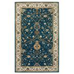 Anatole Deep Blue and Ivory 2 ft. x 3 ft. Accent Rug