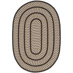 Braided Ivory/Dark Brown 4 ft. x 6 ft. Oval Area Rug
