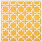 Cambridge Gold/Ivory 6 ft. x 6 ft. Square Area Rug