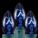C9 Blue Replacement Christmas Light Bulbs - Transparent (Box of 250)