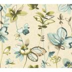 60.75 sq. ft. Watercolors Whimsical Garden Wallpaper