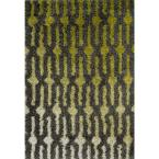 Cosma Lifestyle Collection Green/Grey 5 ft. 2 in. x 7 ft. 7 in. Area Rug