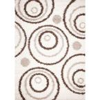 Shaggy Circles Natural 6 ft. 7 in. x 9 ft. 3 in. Area Rug