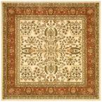 Lyndhurst Ivory/Rust 8 ft. x 8 ft. Square Area Rug