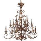 Elysian Collection Golden Brandy 15-light Chandelier-DISCONTINUED