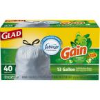 13 Gal. Tall Kitchen Drawstring Odor Shield Trash Bags (40-Count)