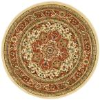 Lyndhurst Ivory/Rust 8 ft. x 8 ft. Round Area Rug