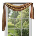 Ombre Autumn Polyester Scarf Curtain - 50 in. W x 144 in. L