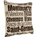 City Hand-Hooked 18 in. W Ivory/Brown Paris Pillow