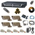 4 Channel Security Surveillance System with 500 GB Hard Drive, 4 CCD Cameras, 420 TV Lines of Resolution