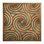 Typhoon - 2 ft. x 2 ft. Lay-in Ceiling Tile in Copper Fantasy