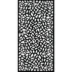 0.6 in. x 71.6 in. x 2.95 ft. Riverbank Recycled Plastic Charcoal Decorative Screen (5-Piece per Bundle)