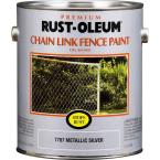 1 Gal. Silver Metallic Chain Link Fence Stops Rust Paint