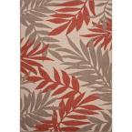 Hand Made Red 2 ft. x 3 ft. 7 in. Floral Area Rug