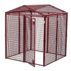 Animal House 60 in. L x 60 in. W x 75 in. H Gable Covered Enclosure