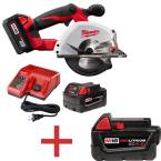 M18 18-Volt Lithium-Ion Cordless 3/8 in. Metal Circular Saw Kit with Free M18 4.0 Ah Extended Capacity Battery