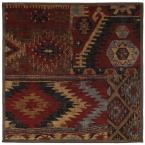 Sabriel Coco Leaf 8 ft. x 8 ft. Area Rug