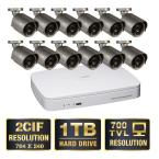 Advanced 16-Channel D1/2CIF 1TB Video Surveillance System 12 Hi-Res 700 TVL Cameras 100 ft. Night Vision-DISCONTINUED