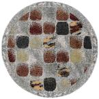 Modesto Cobblestone Beige 5 ft. 3 in. Round Area Rug