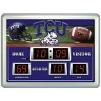 Texas Christian University 14 in. x 19 in. Scoreboard Clock with Temperature