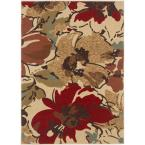 Laguna Beige 7 ft. 6 in. x 9 ft. 10 in. Contemporary Area Rug